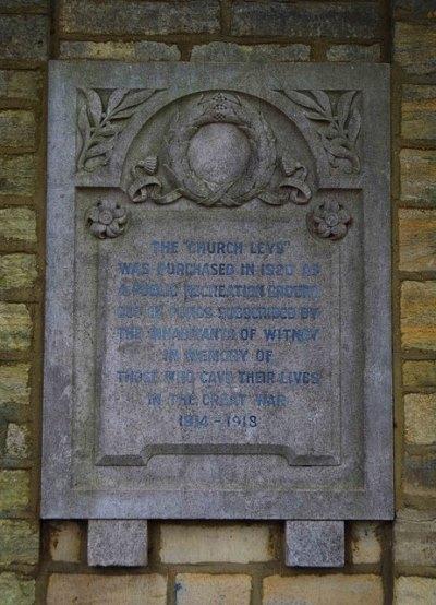 War Memorial Witney