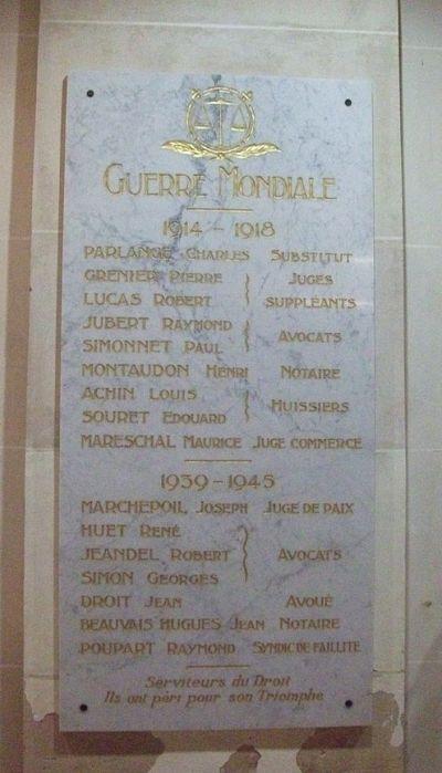 War Memorial Palais de Justice