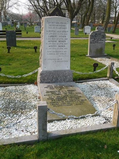 Nederlandse Oorlogsgraven Algemene Begraafplaats Memento Mori Spakenburg
