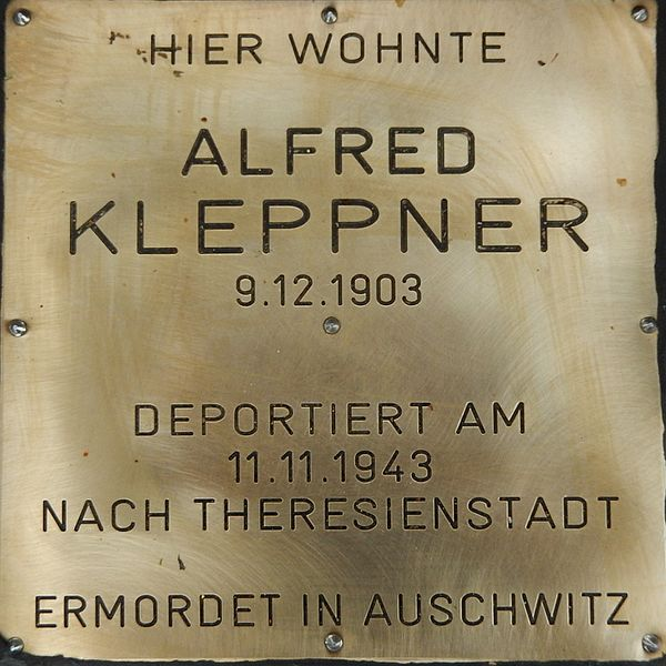 Remembrance Stone Auer-Welsbach-Straße 53