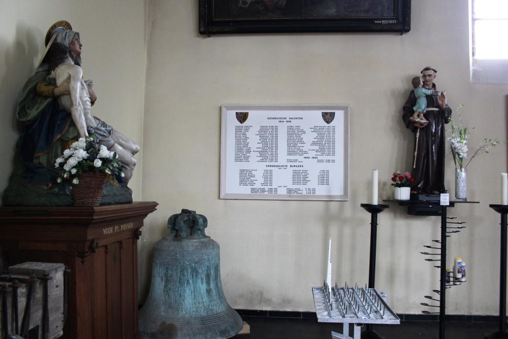 Commemorative Plaque War Victims Vlamertinge