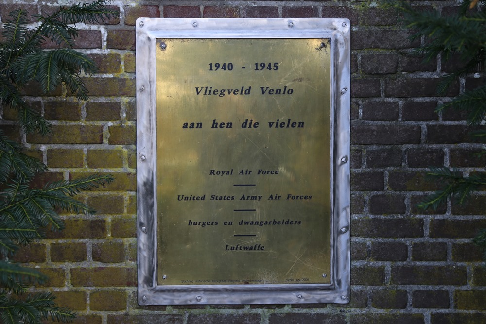 Plaque Victims Venlo Airfield
