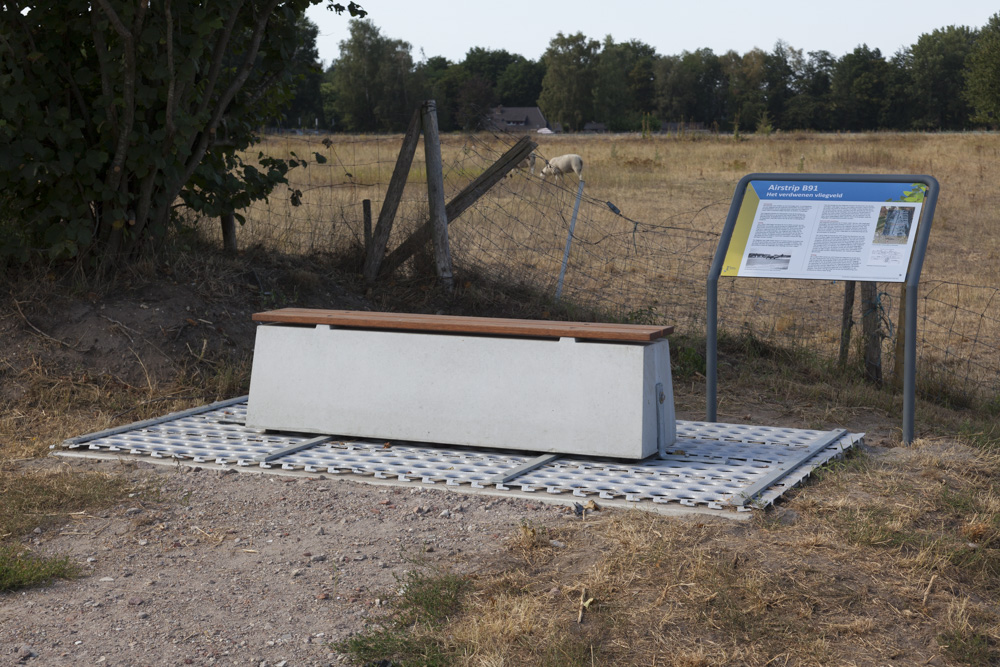 Information Sign and Bench former Air Strip B.91 Kluis
