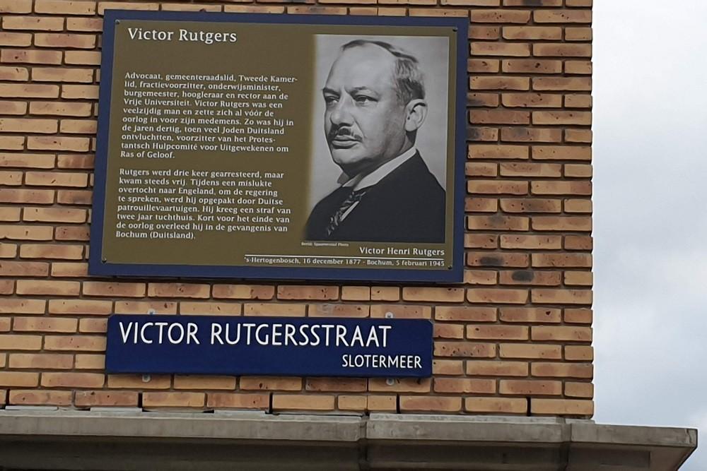 Memorial Plates Slotermeer Victor Rutgersstraat