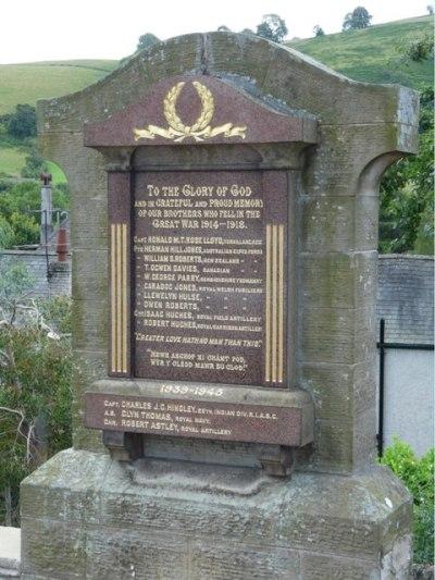 War Memorial Carrog