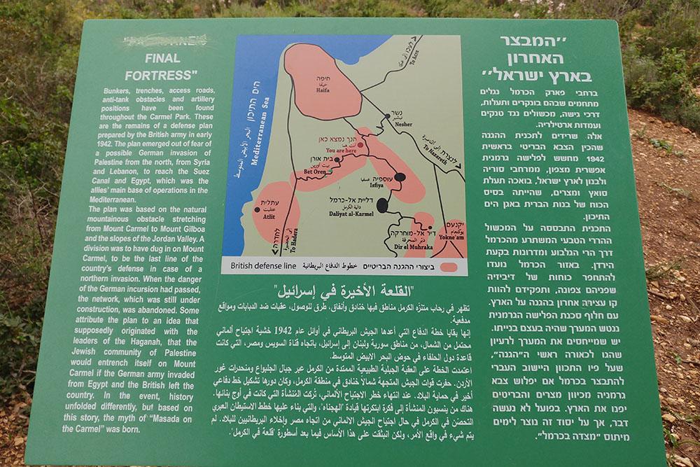 Palestine Final Fortress - Information Sign