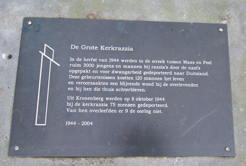 Memorial 'Tracks that were' Kronenberg