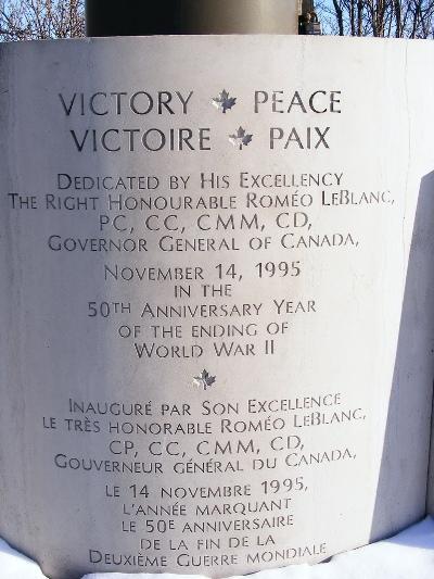 Monument Einde Tweede Wereldoorlog