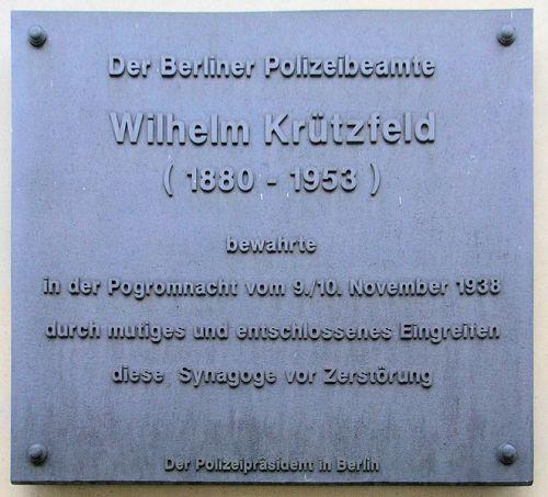 Plaque Wilhelm Krützfeld
