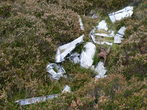 Crashlocatie & Restant Avro Anson Lesvliegtuig Nether Handwick