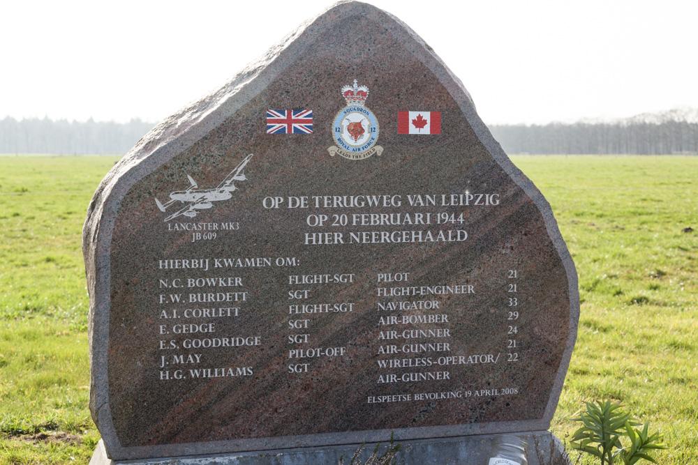 Monument Lancaster JB 609
