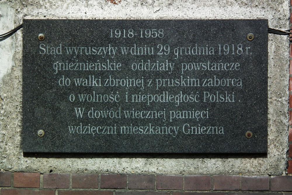 Plaque 27 December 1918