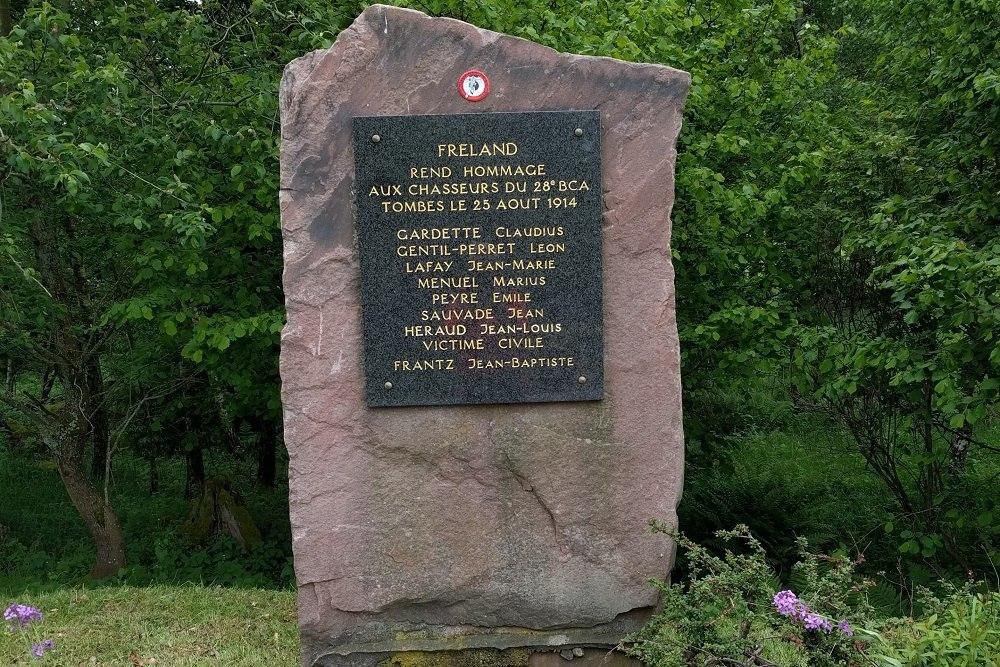 Memorial stone Fréland