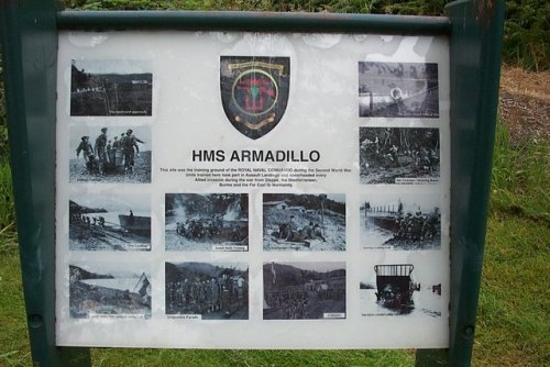 Information Sign HMS Armadillo