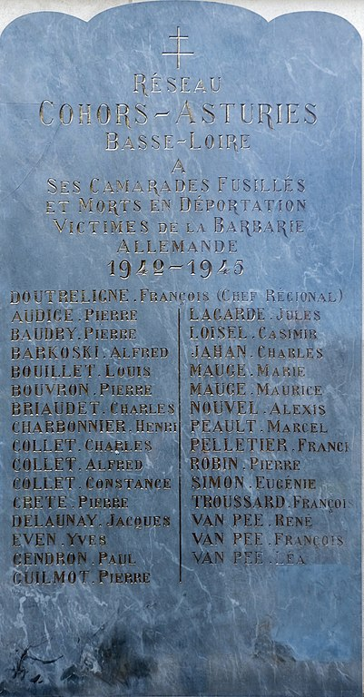Memorial Resistance-Group Cohors-Asturies Basse-Loire