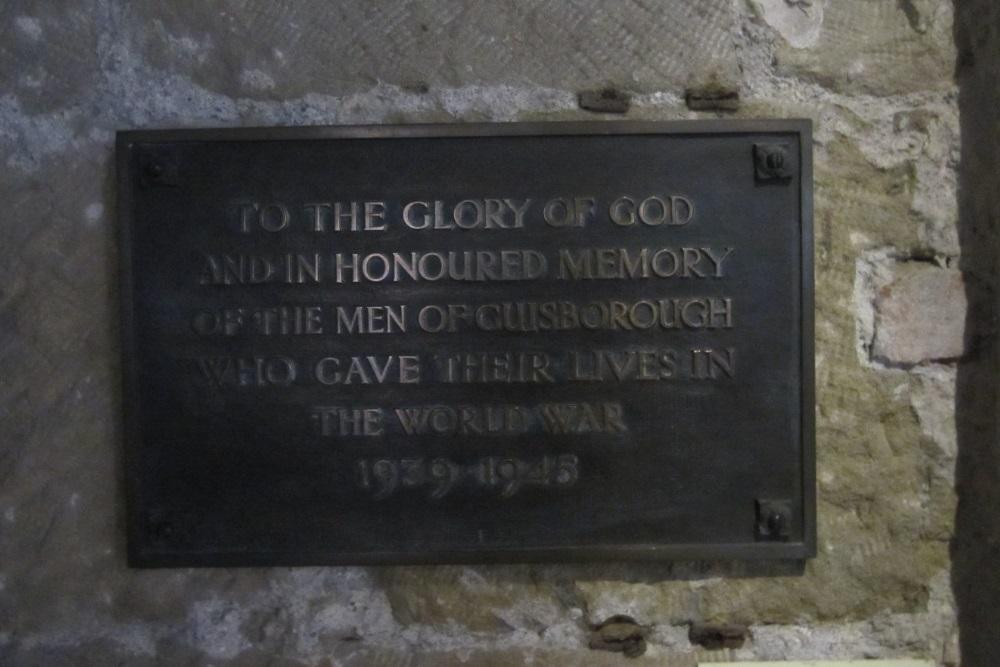 Monument St Nicolas WO2 Guisborough