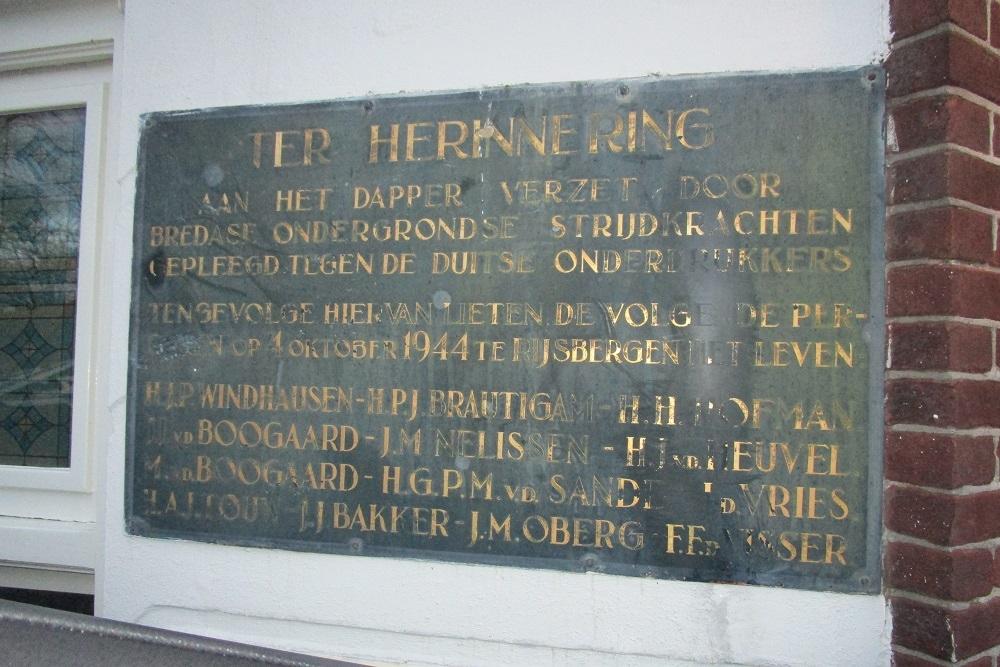Plaque Killed Resistance Fighters Vloeiweide