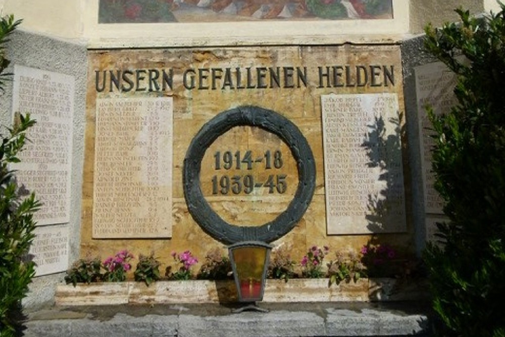 Monument To The Fallen In World War I And World War II Schruns