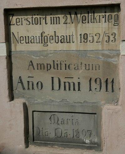 Gedenksteen Verwoesting en Herbouw Kerk