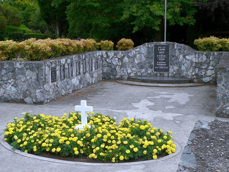 Monument Tweede Wereldoorlog Te Awamutu