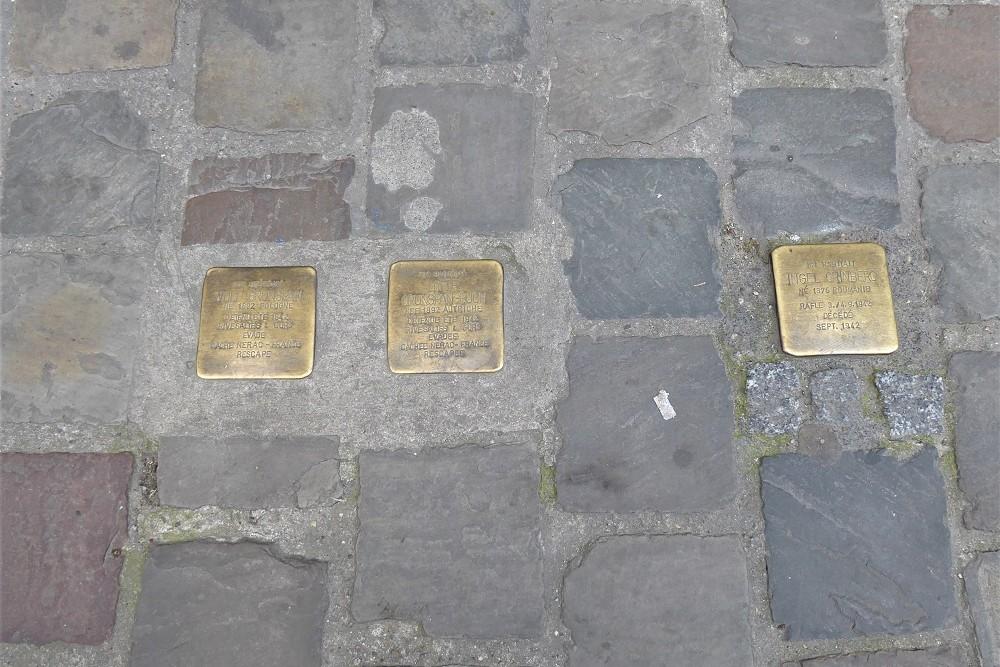Stumbling Stones Rue des Tanneurs 140