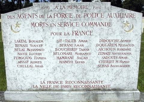 Memorial Force de Police Auxiliaire