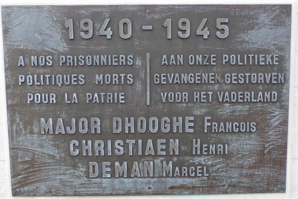 Gedenkplaat voor de Politieke Gevangenen
