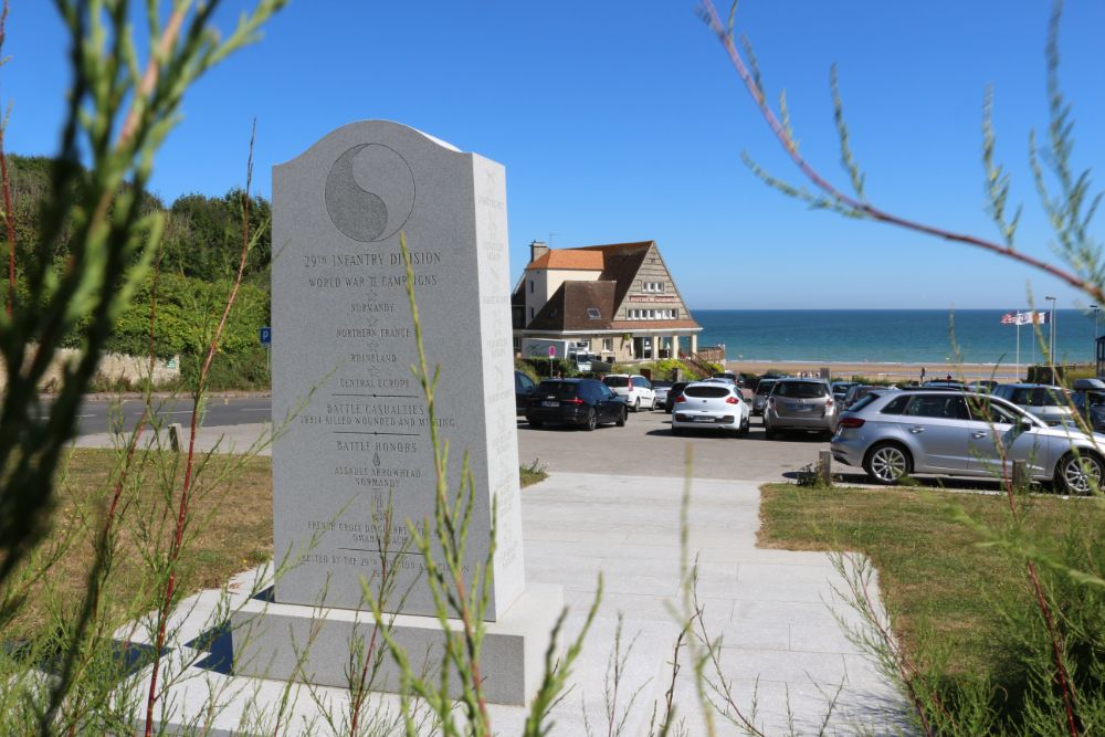 Monument 29e Amerikaanse Infanterie Divisie Omaha Beach