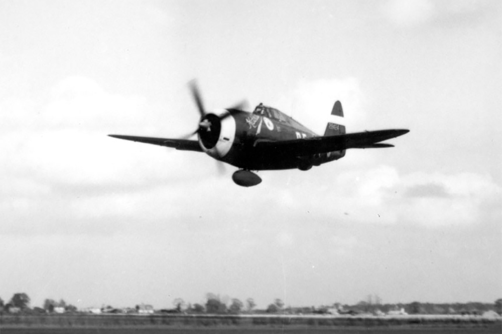 Crashlocatie P-47D-23-RA Thunderbolt # 42-27608