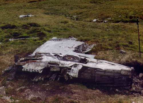 Crash Site & Weckage P-38 Lightning Fighter Blaenrheidol