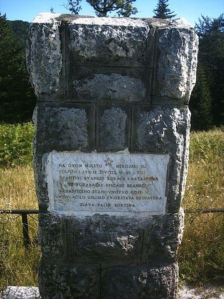 Memorial Killed Partisans Borja Mountain
