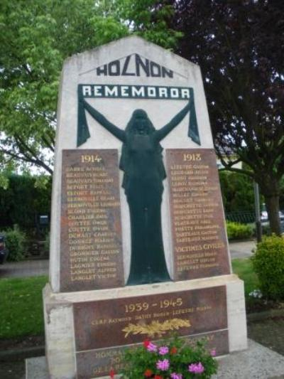 War Memorial Holnon & Battle of Saint-Quentin 1871