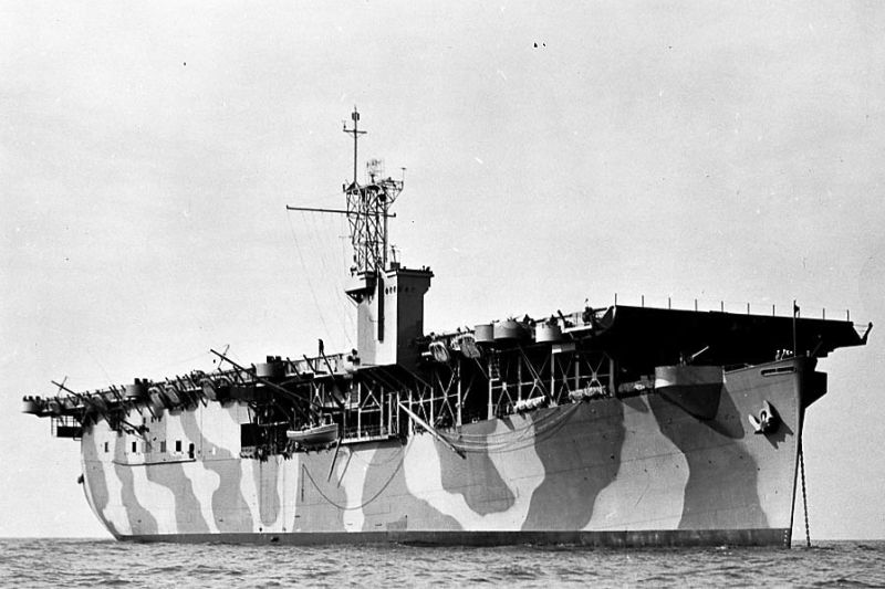 Amerikaans escortevliegdekschip USS Charger