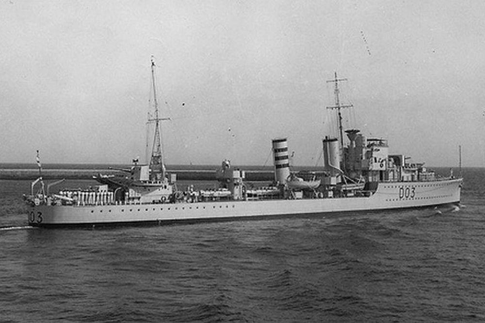 Britse Torpedobootjager HMS Icarus (D03)