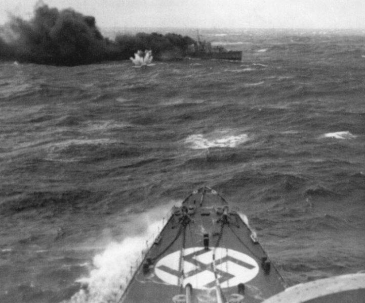 Ondergang van HMS Glowworm, 8 april 1940