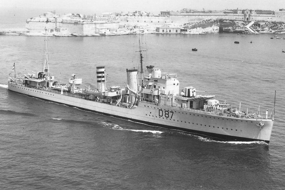 Britse Torpedobootjager HMS Isis (D87)