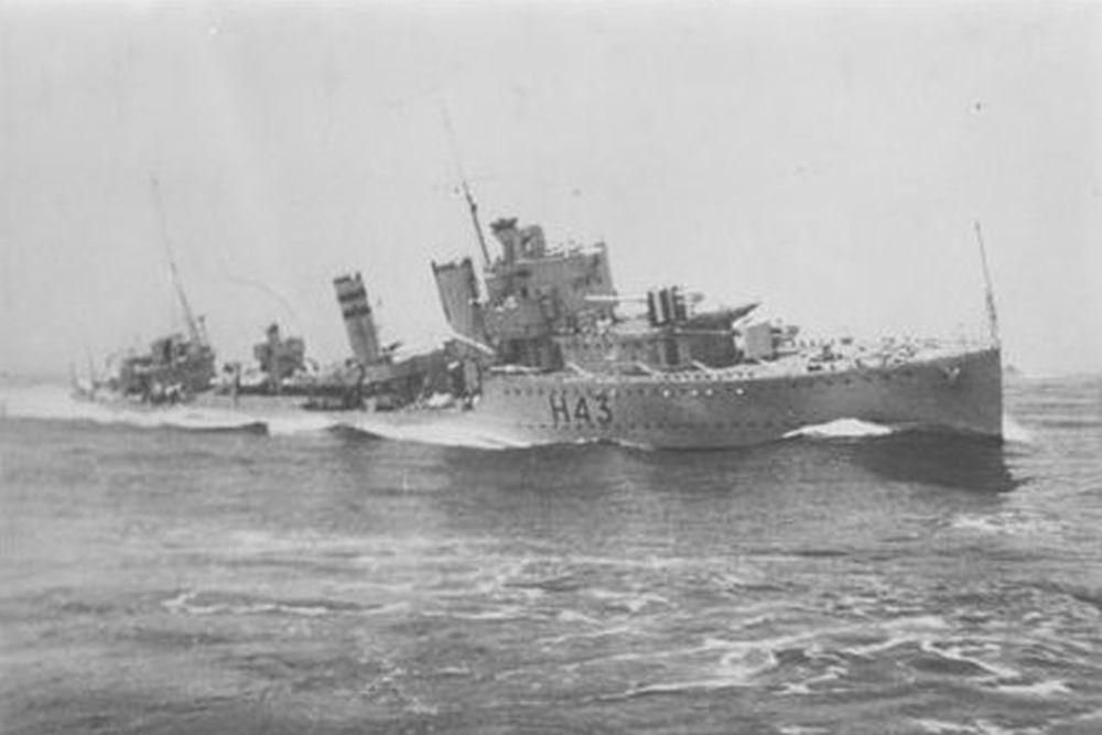 Britse Torpedobootjager HMS Havock (H43)