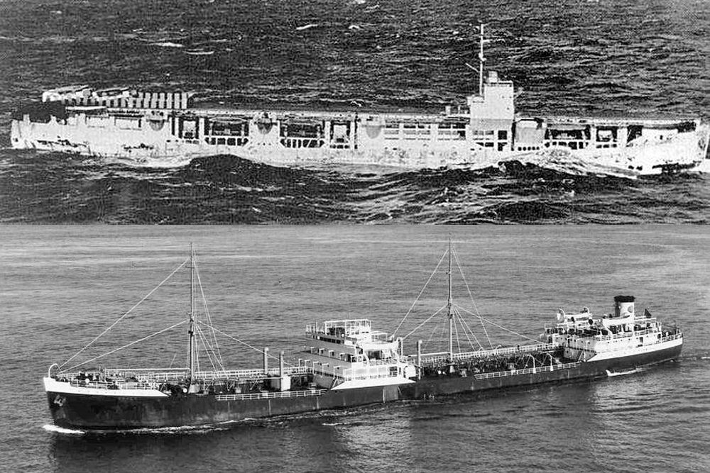Britse Merchant Aircraft Carrier m.v. Adula (MQ)