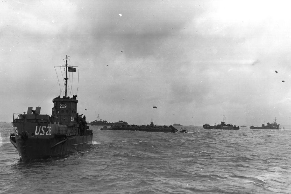 Amerikaanse Landing Craft Infantry (Large) USS LCI(L)-219