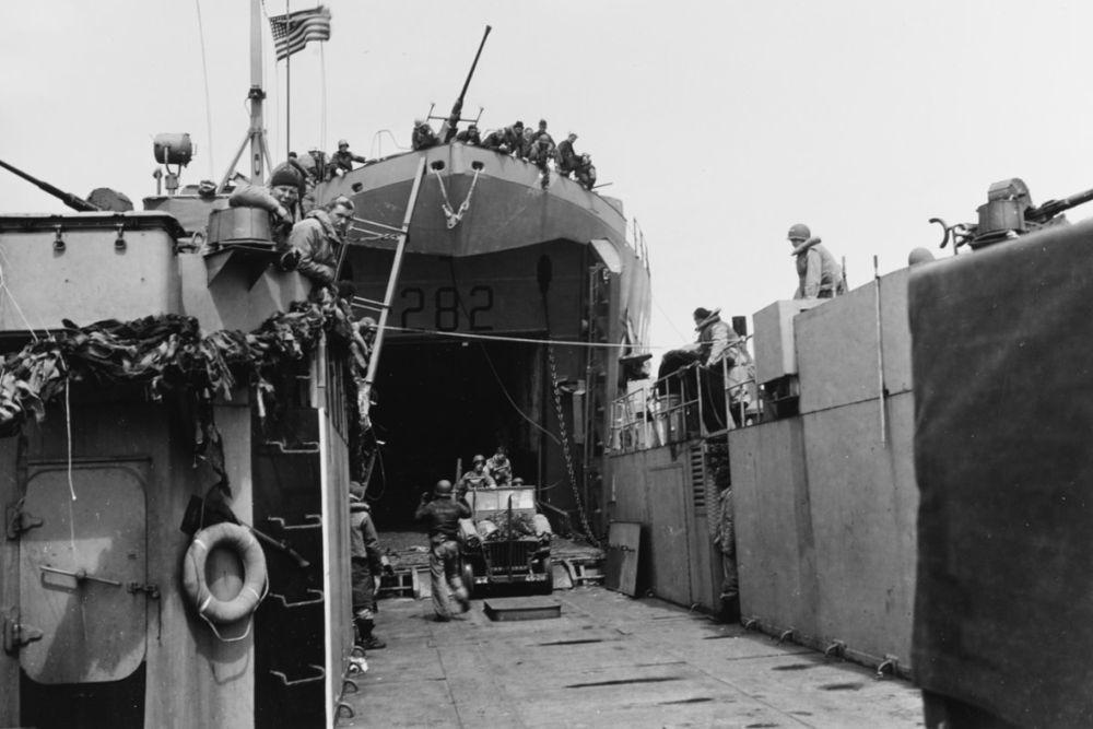 Amerikaanse Landing Ship Tank USS LST-282 (LST-282)