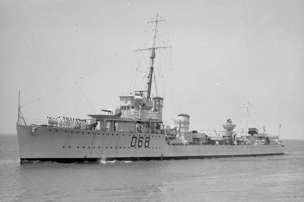Britse Torpedobootjager HMS Vampire (F0A)