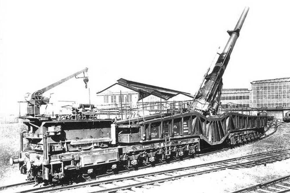 Duitse Spoorweggeschut 38 cm Kanone (Eisenbahn) Siegfried