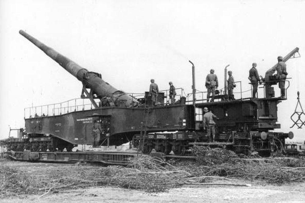 Duitse Spoorweggeschut 28 cm Kanone 5 (Eisenbahn) Leopold