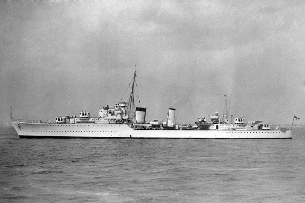 Britse Torpedobootjager HMS Afridi (L07)
