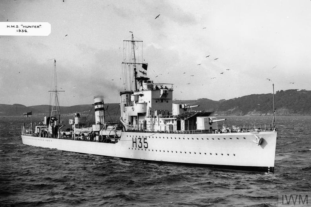 Britse Torpedobootjager HMS Hunter (H35)