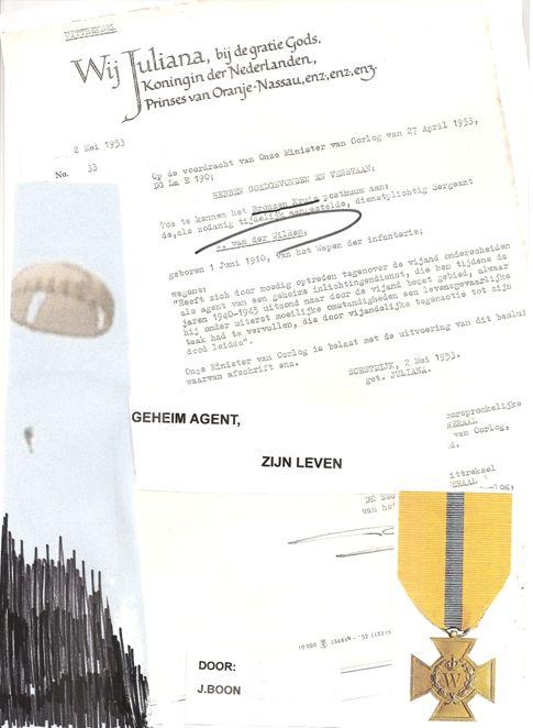 Willem van der Wilden, afscheidsbrief van een geheim agent
