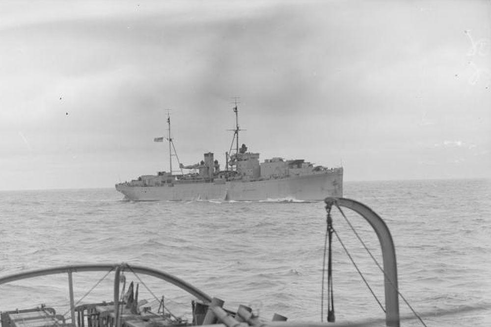 Britse Fighter Catapult Ship HMS Springbank (F50)