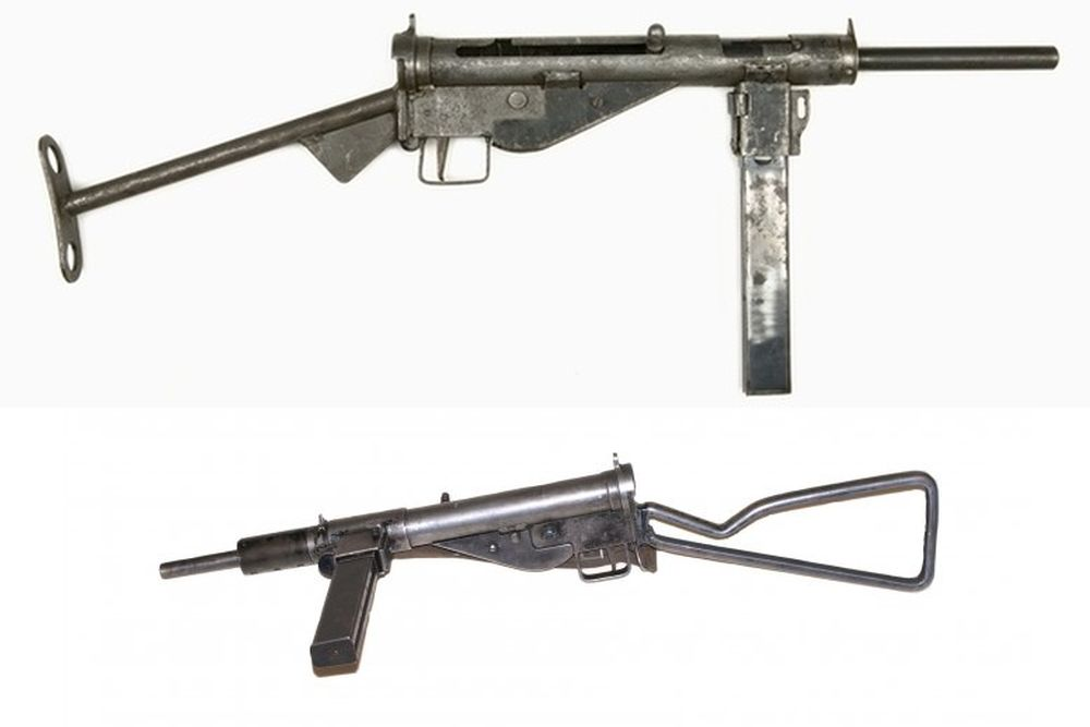 Britse Pistoolmitrailleur RSAF Stengun