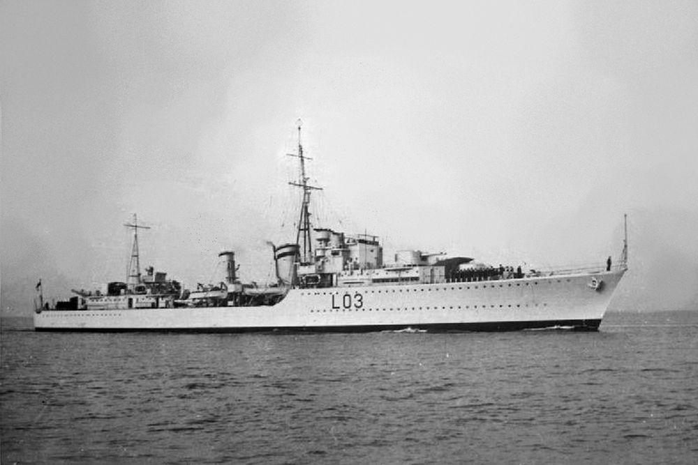 Britse Torpedobootjager HMS Cossack (L03)