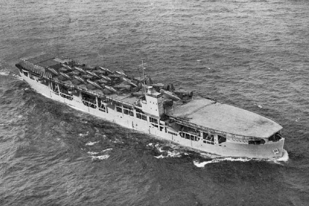 Britse Merchant Aircraft Carrier m.v. Acavus (MA)